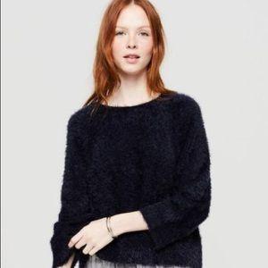 Lou & Grey Navy eyelash sweater size L